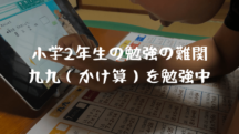 小学2年生の勉強の難関【九九(かけ算)】学習のポイント